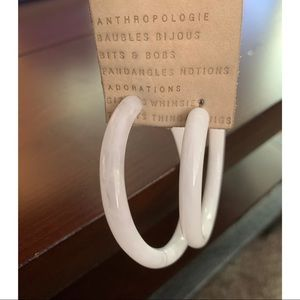 Anthropologie White Hoops